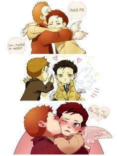 Goddammit...I can't handle the cuteness..^-^  (Destiel)