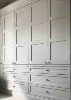Edwardian wardrobe doors for built in wardrobe/dressing room. - Edwardian wardrobe doors for built in wardrobe/dressing room. Bedroom Wardrobe, Wardrobe Storage, Bedroom Window Dressing, Closet Built Ins, Built In Wardrobe, Bedroom Storage Cabinets, Build A Closet, Bedroom Organization Closet, Closet Colors