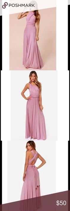 Pink Convertible Maxi Dress This convertible maxi dress can be worn so many different ways. Perfect for summer, whether you're going on a date, BBQ, or just shopping with the girls, this dress will keep you fashionable and comfy! Get yours now! Dresses Maxi