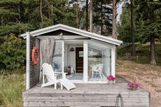 Beach house She Sheds, Steam Room, Helsinki, Halle, Room Inspiration, Gazebo, Beach House, Koti, Outdoor Structures