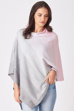 Graduated Stripe Poncho - This fabulous poncho looks great with jeans and will become a firm favourite in your wardrobe. Made in New Zealand from Super Soft Extra Fine Merino Wool. Merino Wool, Classic Style, Looks Great, Knitwear, Bell Sleeve Top, Tunic Tops, Stripes, Jeans, How To Make