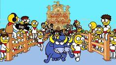 Sanfermines y Kukusumusu Turtle Games, Running Of The Bulls, Pamplona, Bart Simpson, Bowser, Graphic Design, Fine Art, Fictional Characters, Spanish Class
