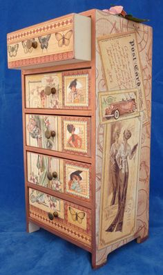 A Ladies' Diary altered drawers by Elizabeth Sharp #graphic45