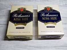 Vintage Rothmans King Size Dummy Cigarette Packets - Two Packs Dummy Cigarettes - Photo Shoots - Film Sets