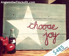 Distressed Yet Sparkly: *Choose Joy* Pallet Wood Art for Teacher's Gifts