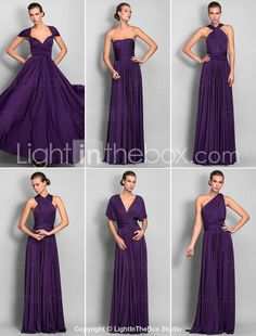 Bridesmaid Dresses with Impeccable Style - Light in The Box: one dress with multiple ways of wearing it
