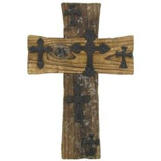 Brown Wood Cross with Small Metal Crosses | Shop Hobby Lobby