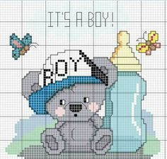 Baby Cross Stitch Patterns, Cross Stitch For Kids, Cute Cross Stitch, Cross Stitch Charts, Cross Stitch Designs, Hand Embroidery Stitches, Cross Stitch Embroidery, Embroidery Patterns, Disney Coloring Pages