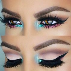 Amazing eye look, with a thick wing and beautiful lashes.