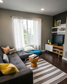 Modern Bold Condo contemporary family room
