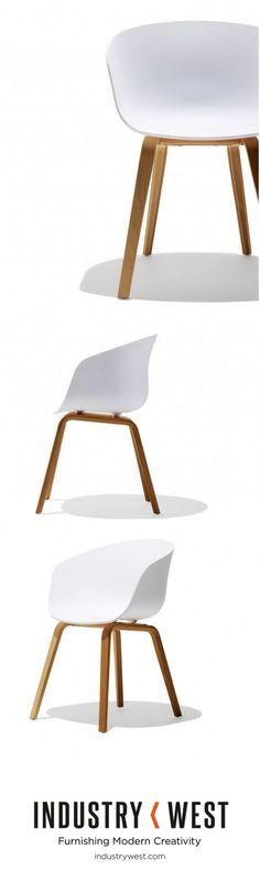The Neusolso Chair is the epitome of high end design encompassed in an in air of je ne sais quoi. The white bucket seat is constructed of a molded polypropylene shell and seated on an oak base. Recommended for residential use.