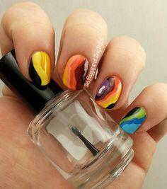 Doppler Radar inspired nails #nailart #colorful #summernails #pretty - See more looks at bellashoot.com