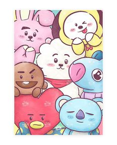 - BTS Mascots - You are on a board, Bts Chibi, Foto Bts, Bts Photo, Bt 21, Bts Drawings, Girly Drawings, Character Wallpaper, Bts Lockscreen, Bts Pictures