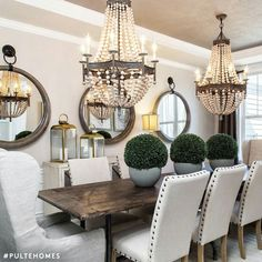 By Pulte Homes..love this dining room.