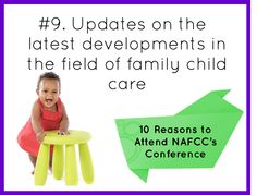 #9 Updates on the latest developments in the field of family child care.