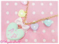 Dream Heart Macaron Necklace
