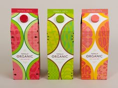 Totally Organic juice brand (student project) by Sarah Surrettel. love the fruits #packaging PD