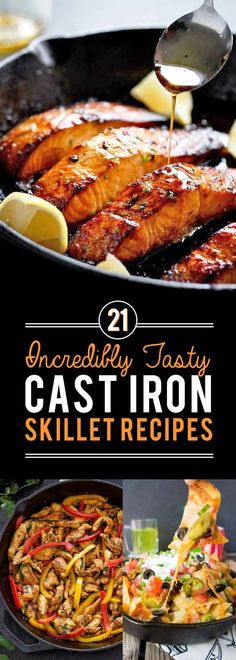 21 Cast Iron Skillet Recipes You Should Try Time to use one of the most versatile tools in your kitchen. Cast Iron Skillet Cooking, Iron Skillet Recipes, Cast Iron Recipes, Skillet Dinners, Skillet Food, Cast Iron Chicken Recipes, Cast Iron Fish Recipe, Cooking With Cast Iron, Electric Skillet Recipes