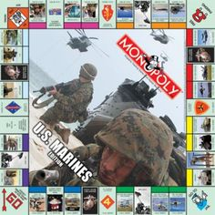 MONOPOLY: U.S. Marines Edition. Awesome!! Must have for any Marine household.