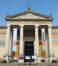 The Ashmolean Museum on Beaumont Street in Oxford, the world's first university museum - Oxfordshire, England