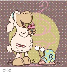 Risultati immagini per nici jolly lucy Funny Sheep, Cute Sheep, Animals Images, Cute Animals, Baa Baa Sheep, Sheep Drawing, Cows Mooing, Animal Cards, Whimsical Art