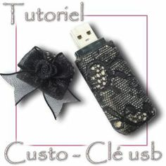 Free Tutorial to customize a USB key with polymer clay, available on www.cristalline.b.... Version to print or download to store in the library shelf on www.creations-cri... (€ 1) Fimo Crystalline tutorial and jewelry polymer