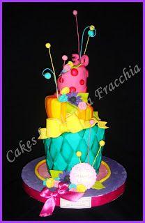 TORTA DECORADA FLUOS PARA CUMPLEAÑOS | TORTAS CAKES BY MONICA FRACCHIA