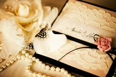 black & Lace invitation