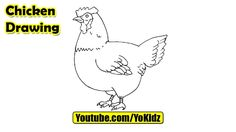 How to draw a CHICKEN for kids  Chicken Drawing from YoKidz  #YoKidz #Drawing #PencilDrawing #Generaldrawing #Like4like #Likeforlike #Share4share #Shareforshare #Draw #Blackandwhite #Chicken #DrawChicken