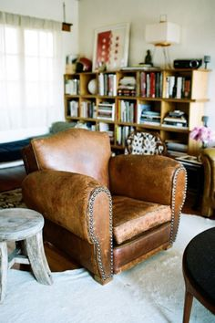 Leather Studded Chair