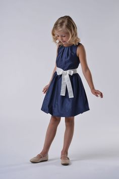 Us Angels Flower Girl Dress Style 124- Silky Taffeta Dress with Bubble Hem Skirt