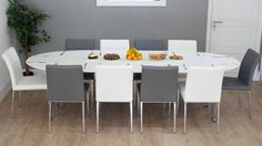 Attrayant Ellie White Oval Extending Dining Table And Lena Dining Chairs £775.00