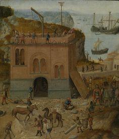 The Tower of Babel / La Torre de Babel // c. 1490 // Anonymous // The Rijksmuseum