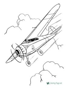 Printable Airplane Coloring Pages Sheets And Pictures
