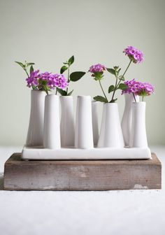 """Madison Tube Vase By Chive 25.99 at shopruche.com. Perfect for a coffee table centerpiece or desk accent, this modern ceramic vase will effortlessly brighten up your living space.  Approx. 7.25""""L x 2.5""""W x 4""""H"""