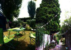 Schelpenslinger op vakantie gemaakt, nu in de tuin