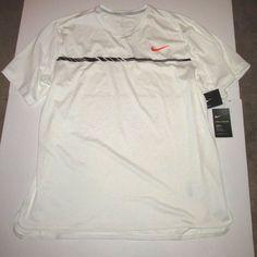 047c13d39ab71 Nike Court Dry Challenger Dri-FIT Mens Tennis Shirt 2XL White Black 830897  100  Nike  ShirtsTops