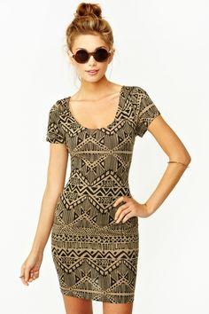 Mayan Cutout Dress