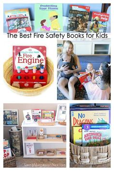Recommendations of fire safety books for babies through elementary-age kids. Nonfiction & fiction books for a fire safety unit - Living Montessori Now Montessori Toddler, Toddler Activities, Montessori Homeschool, Homeschooling, Preschool Books, Preschool Themes, Preschool Kindergarten, Tot School, School Days