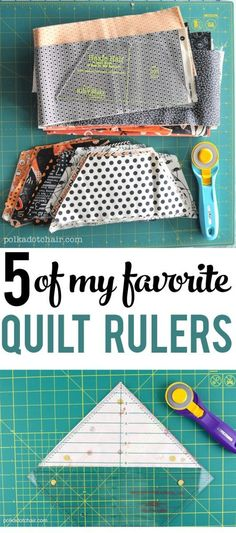 5 of my Favorite Quilt Rulers!! Great tools to have on hand!