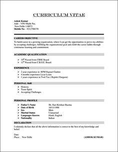 examples of job resumes