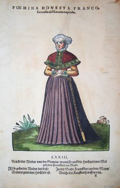 Jost Amman für Hans Weigel - FRANKFURT: Foemina Honesta Francofurtensis ad Moenum nuptialis  1577 http://www.pahor.de/data/product-list/53681.jpg