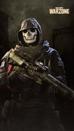 Call of Duty Warzone - Ghost Wallpaper