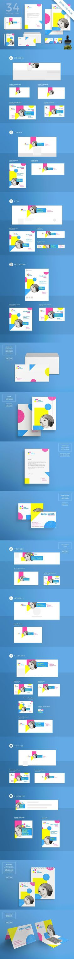 Branding Pack | Kids Clothes. Stationery Templates