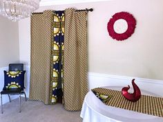 Get 2 curtain patterns for the price of house don't have to be so conventional. Our awesome African Print double sided window curtains transform a neglected essential into an awesome statement piece. Featuring a double-sided print. Printing Double Sided, African Home Decor, Curtains, Curtain Patterns, African Print Pillows, Living Room Designs, Printed Curtains, Home Decor, Curtains Yellow And Blue
