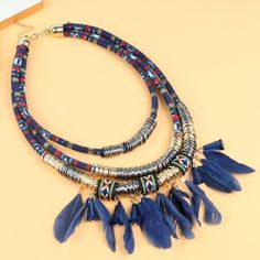Layered Feather Festival Necklace