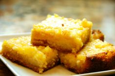 Lemon Bars. This recipe does include butter so it's more primal. Just be sure to use butter from grass-fed cows! #paleo #primal #GAPS