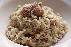 Risotto mit Maronen Vegan Vegetarian, Oatmeal, Grains, Rice, Breakfast, Thumbnail Image, Food, Ms, Food Portions