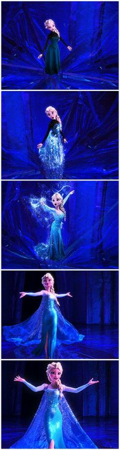 Let it go - Elsa - Frozen - This is just the most beautiful dress transformation I've ever seen
