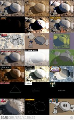 How a Rock is seen in different games